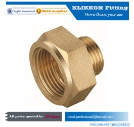 Plated Metric Plumbing Thread  Brass Pipe Fittings