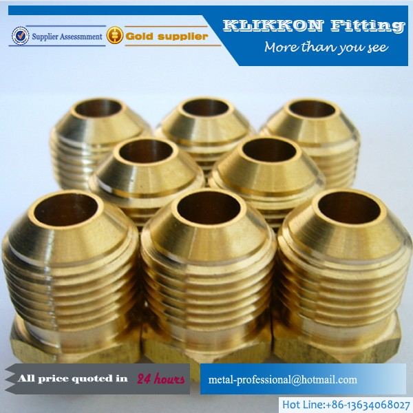 1/4 or 3/8 Lead Free Hexagon Npt flare Copper Pipe Fitting