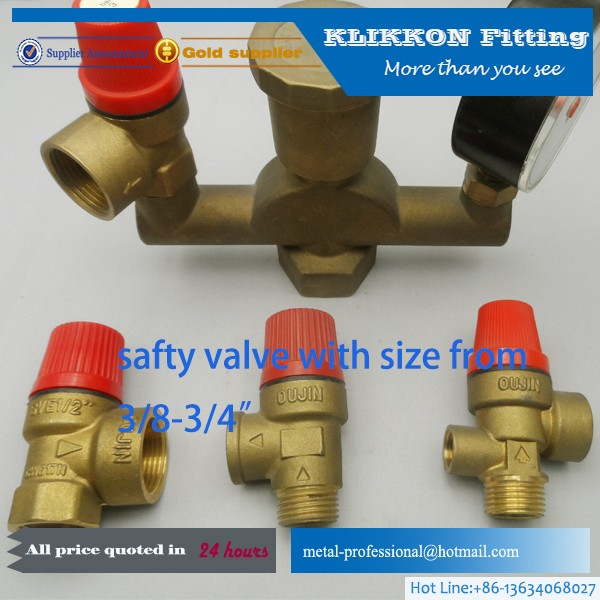 three way Brass Ball Valve water gas oil media