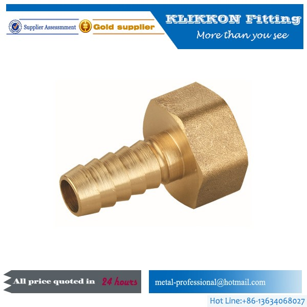 "1/2"" 3/4"" brass nipple pipe fitting hose fittings"