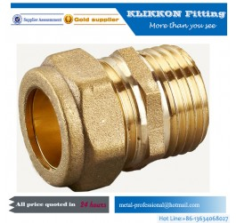 water brass compression fitting for copper pipe