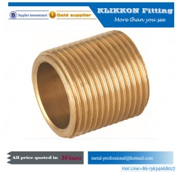 "1""*3/4""Brass Pipe Adaptor Straight Brass Coupling"