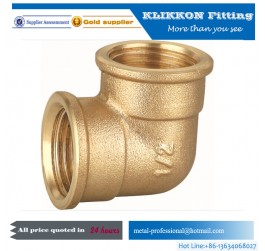 brass compression female elbow 90 degree pipe fitting