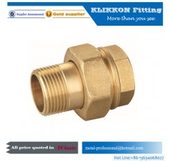 Brass Swivel Nut Straight pipe Fitting Radiator elbow pipe fitting