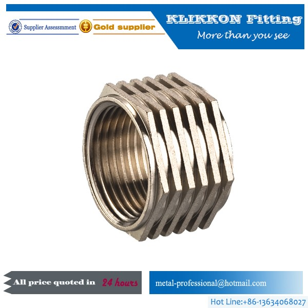 High Precision M6 Threaded Brass Insert Nut For Plastic