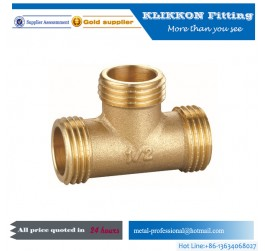 Brass Female Threaded Equal Square Tee Pipe Fitting