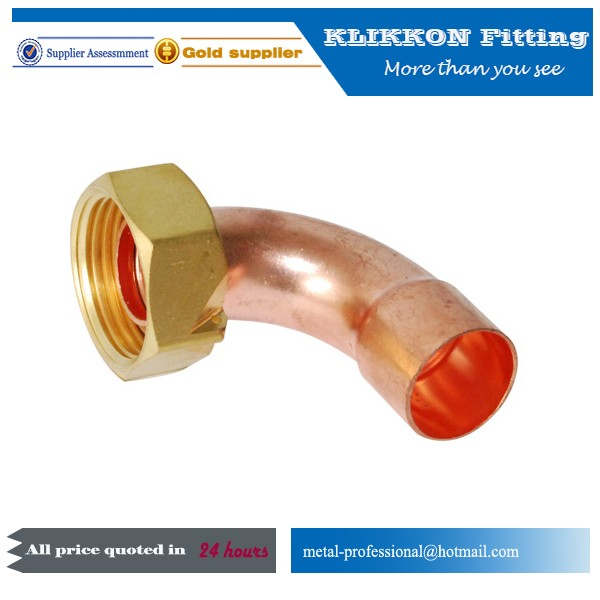 French type copper fittings with cap