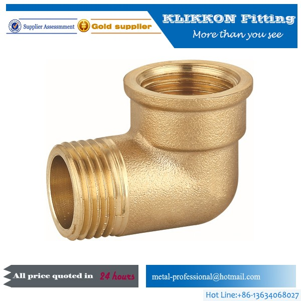 Lead Free Hose brass Elbow 90 Degree Elbow Gripper Pipe Male