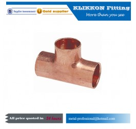 Pipe 3 way copper elbow fitting
