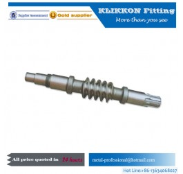 CNC machining precision Worm Gear and shaft