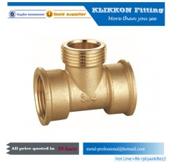 CNC machining Y tee brass parts