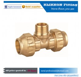 cheap copper sanitary female nipple brass compression fitting