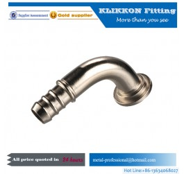 China DZR Brass barb elbow fitting