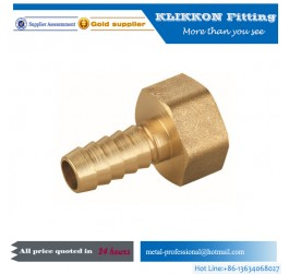 3/4 inch npt forged cw617n brass female threaded nipple barb hose fitting
