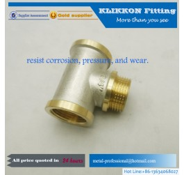 3 way nickel plated pipe joint brass plumbing fittings
