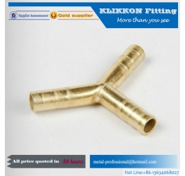 "Brass Hose Y Piece 1/2"" Extruded Brass Air Fitting"