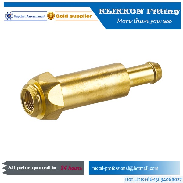 Brass Male Thread Pipe Straight Connector Flared Fitting