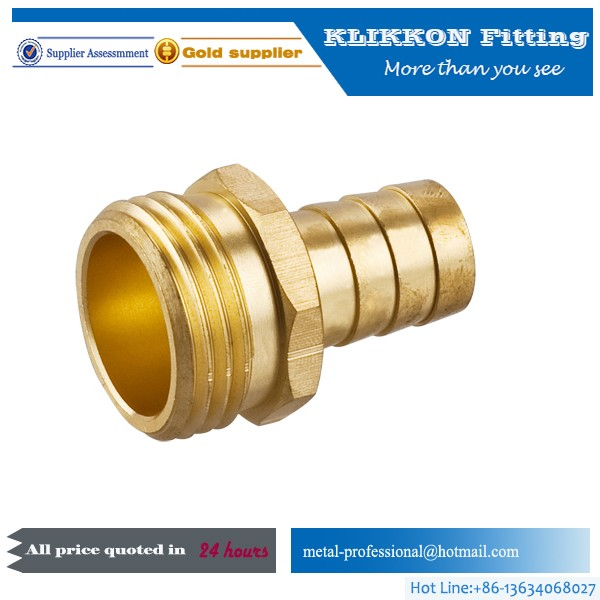 China Brass male hose barb fittings