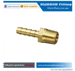 China NPT Male Brass Hose Barb Fitting