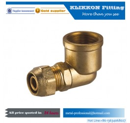 Dot plastic push to elbow connect air brake fittings