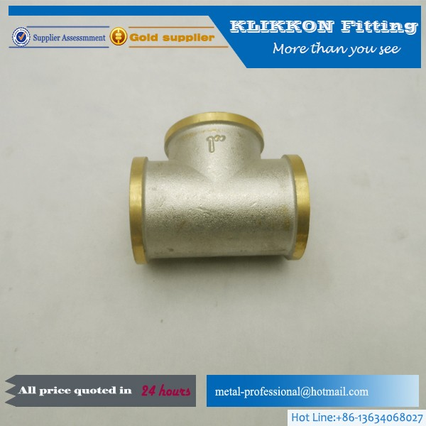 1/8 1/4 3/8 1/2 3/4 1'' 2'' 11/4 Brass NPT Female Tee 3 Way Fitting