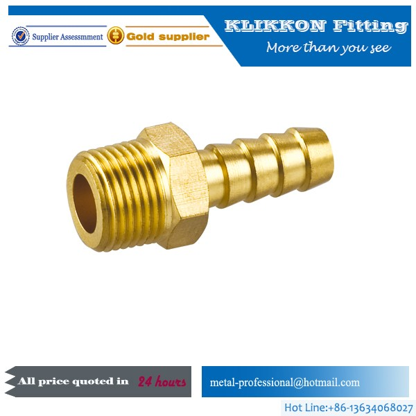 China Brass male female hose barb fitting