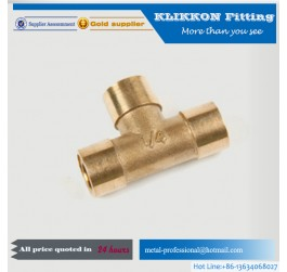 Hot Selling 1/2 inch Male Threaded Brass Tee Fittings