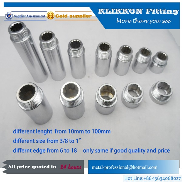 "1/2"" 3/4"" 1/4"" 3/8"" 5/8"" Brass Coupling fittings"