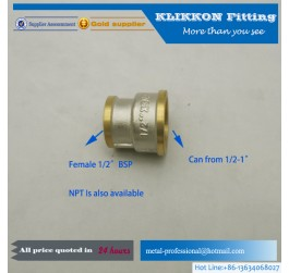 Brass Half Female and Full Male Threaded Bushing Fittings