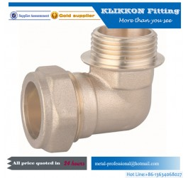Australia standard AS/2537 pex DN16 elbow brass fittings