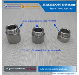 Hexagonal Female waterproof conduit electrical brass fittings