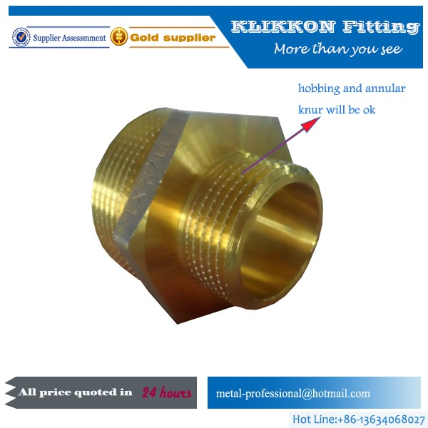 pneumatic brass bushing 1/8 female&1/4 male thread reducer
