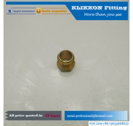 threaded brass tube with inner and outer thread