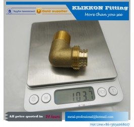 "1/4"" Hose x 1/8 NPT Elbow Brass Barbed Fitting"
