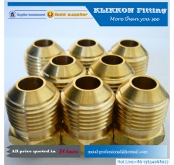 "brass Sanitary 1/2 IN NPT x 3/8"" SAE Male Flare Fitting"