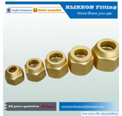 Custom precise brass swivel plumbing fittings