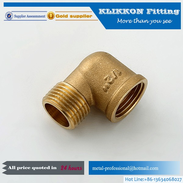 "1/2"" 3/4"" 1"" 1/8"" brass elbow"