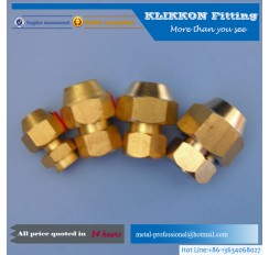 China brass quick connect hose fitting bulkhead union