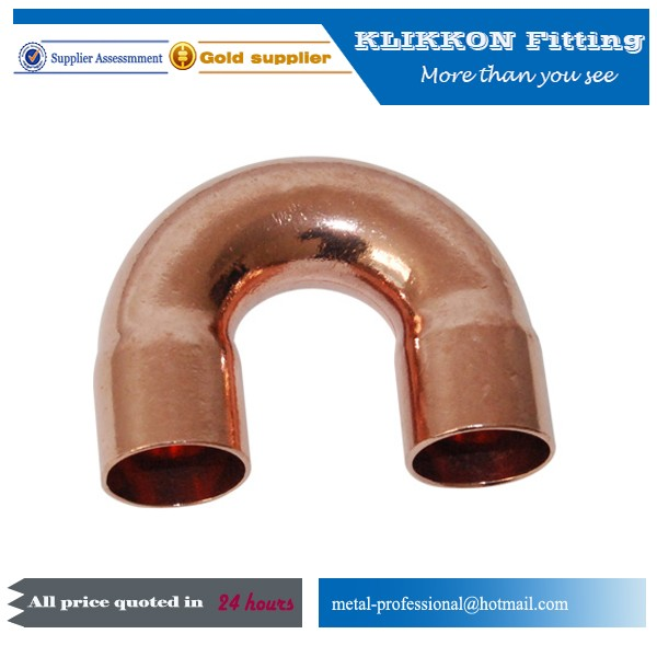 return bend copper bulkhead fitting