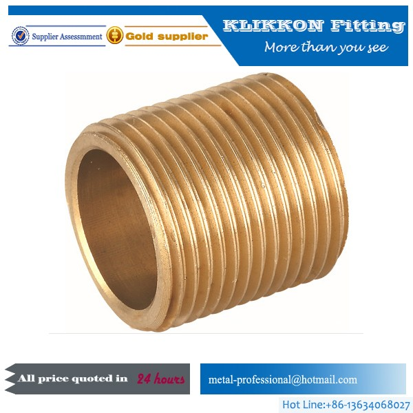 Lead Free Forging Brass Hose Nipple Barb Connector Fitting
