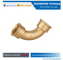 1/2 inch lead free compression coupler threaded brass pipe fittings​