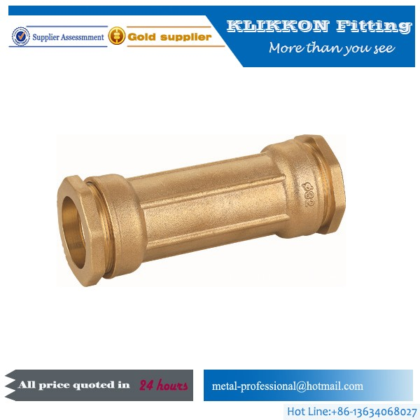 China OEM brass plumbing coupling water heating fittin
