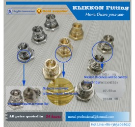 cnc brass pipe fitting shark bite fitting brass push-fit tee