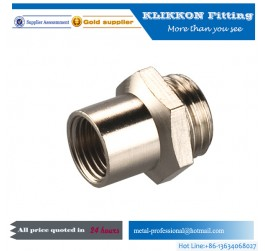 F 3/4 Brass Double Female Threaded Elbow