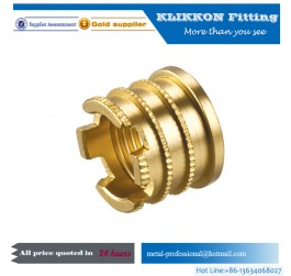 Brass Straight Coupler push fit fitting push connect fitting