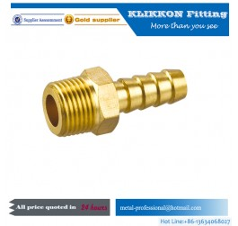 "china Elbow Brass Barb Fitting 3/16"" Hose x 1/8 NPT"