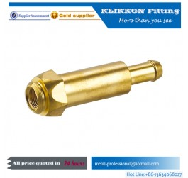 oem cnc sanitary parts Lead Free PEX 1/2 Inch Brass Straight Coupling Crimp Fitting