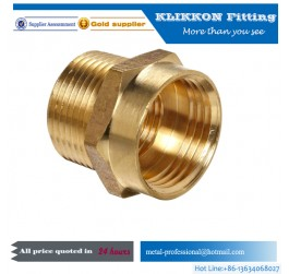 Right Pneumatic Straight Brass Nickel Fitting.PC Brass Metal Joint
