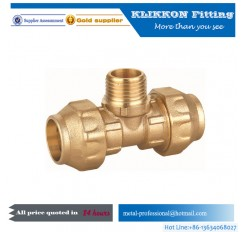 Compression Elbow Copper Swivel Tube Fitting