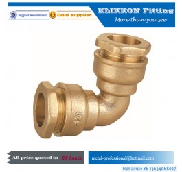 china brass fittings factory Lead Free Hose brass Elbow 90 Degree Elbow Pipe Male
